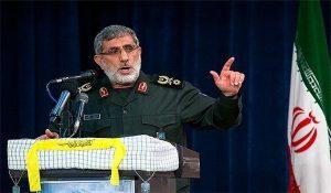 מפקד כח אל קודס, מוחמד קאני, החדש בטקס בטהראן