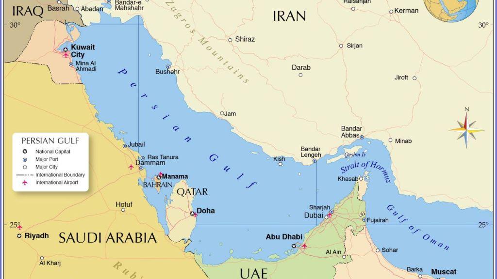 איראן מעבירה שיעור בגאוגרפיה את מקרון