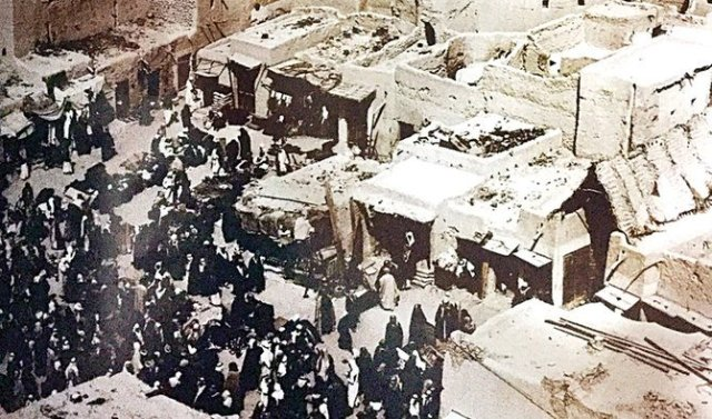 A market in Riyadh, two years before the 1918 Spanish influenza pandemic. (Supplied)