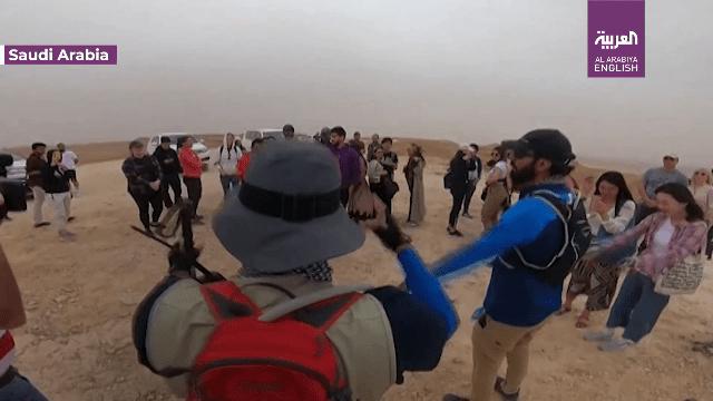 מתוך כתבה בערוץ אל ערביה : בוחרים מהקורונה ומהבידוד אל המדבר