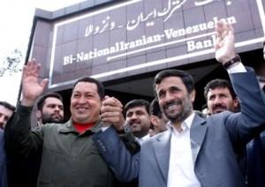 (אחמדינז'אד וצ'אבז מיסוד הקשרים בין איראן לבין ונצואלה)