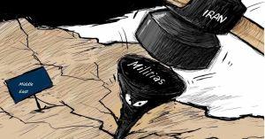 קריקטורה : איראן מנסה מאוימת מהברית החדשה ותנסה לסכל את חתימת הסכם