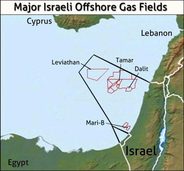 Bildergebnis für Oil and gas fields at the coast of israel
