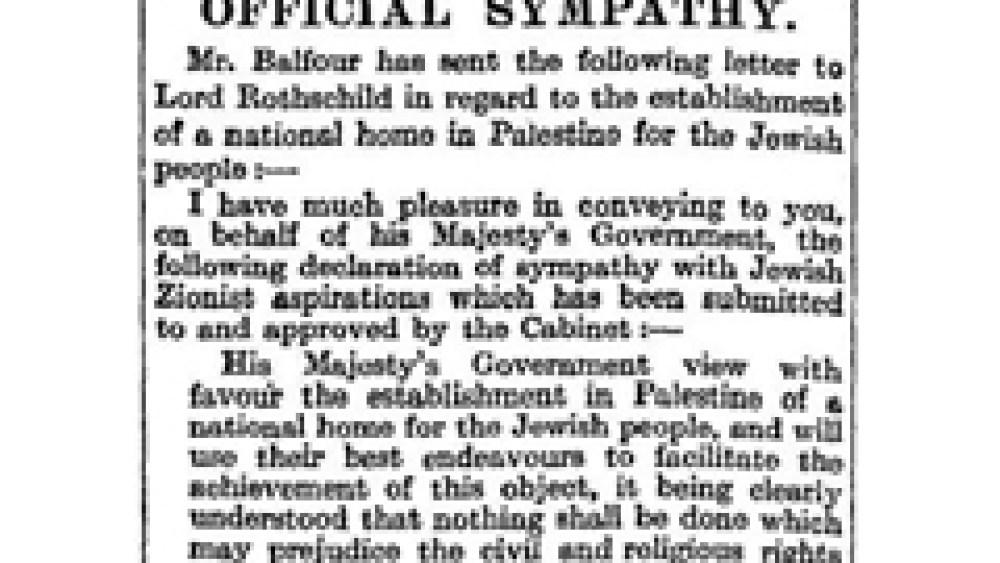 Still Bickering Over Balfour