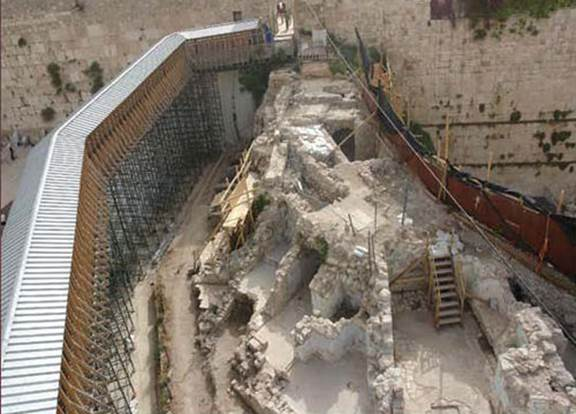The archeological rescue digs of the Israel Antiquities Authority, which enabled the building of the Mughrabi Bridge to replace the collapsed ramp. Israel allowed UNESCO, Turkey, and anyone else who so desired to visit the place. (courtesy of the Israel Antiquities Authority)