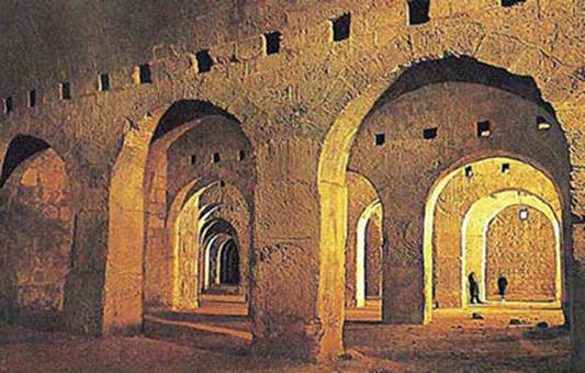 Solomon's Stables, which became a mosque. According to engineering reports, the operations undermined the Southern and Eastern walls of the Temple Mount. (courtesy of Dan Bahat)