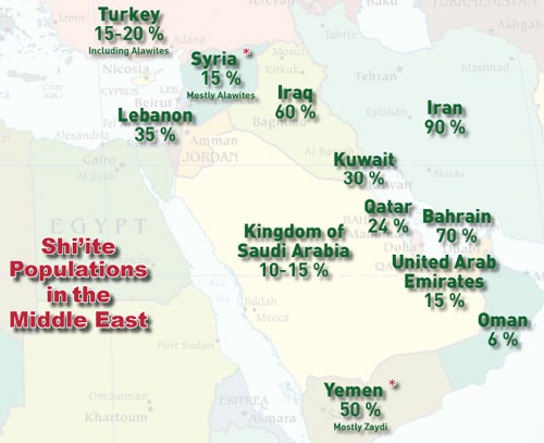 Shiite Populations in the Middle East