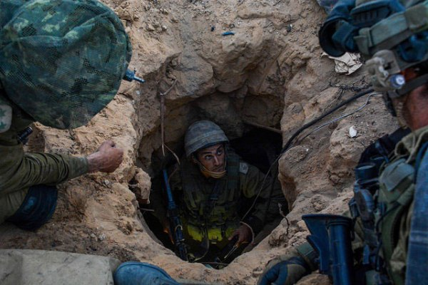 IDF forces operate in Gaza to find and destroy Hamas' terror tunnels, July 20, 2014. (IDF/Flickr)