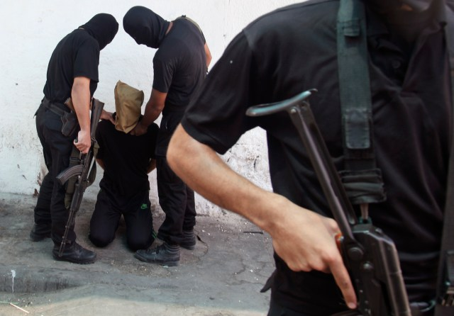 Hamas executed 18 Palestinians on Aug. 22, 2014, for suspected collaboration with Israel. (Reuters)