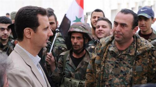 Assad talked with his troops recently