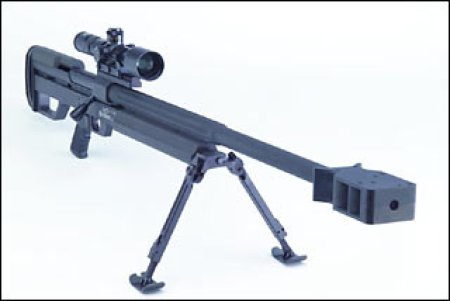 American troops discovered over 100 Austrian-made Steyr HS50 .50 caliber sniper rifles in Iraq, part of a shipment of 800 legally purchased by Iran. The Iranian rifles were also provided to Hamas and Islamic Jihad fighters in Gaza, shown below training.