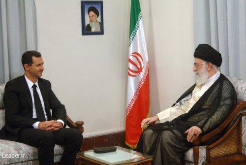 Syrian President Bashar Assad meeting with Iran's Supreme Leader Sayyid Ali Khamenei
