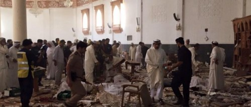 Aftermath of the Kuwait mosque bombing