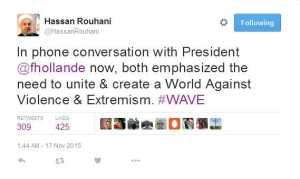 Hassan Rouhani's tweet