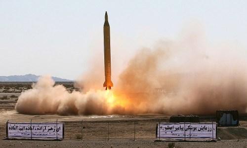 Medium-range Ghadr-1 missile, launched October 10, 2015