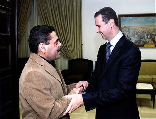 Kuntar with Syrian President Bashar Assad