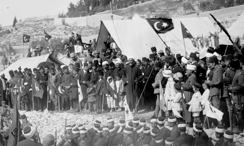 Turkish and Arab commemoration of Nebi Musa in Palestine, 1917 (Library of Congress)