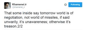 Khamenei tweet