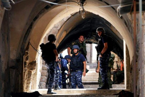 PA security forces on alert in Nablus