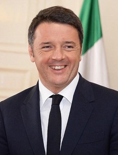 Resigning Prime Minister Matteo Renzi