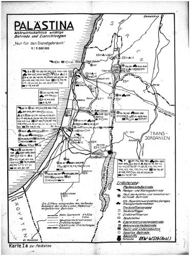Wehrmacht-produced map of Palestine from July 1943
