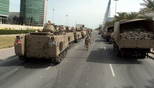 Saudi forces in Bahrain
