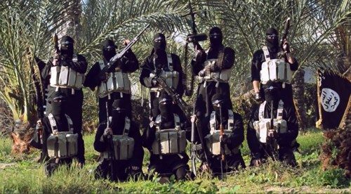 Members of Islamic State, reportedly in Gaza.