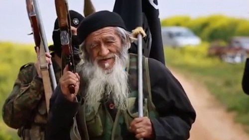 Jihadi Chinese fighter, 80 years old
