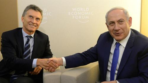President of Argentina, Mauricio Macri with Prime Minister of Israel, Benjamin Netanyahu.