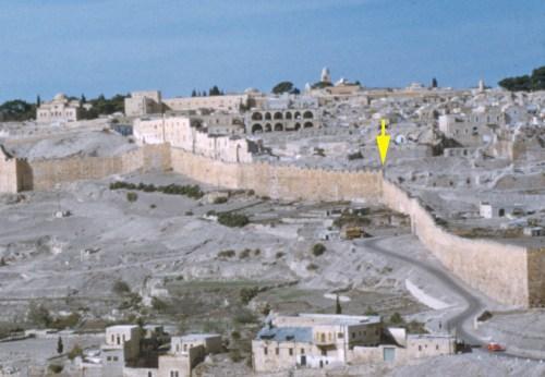The remains of the Jewish Quarter, circa 1955.