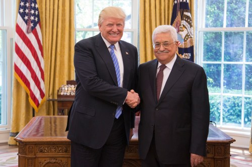 President Donald Trump and President of the Palestinian Authority Mahmoud Abbas