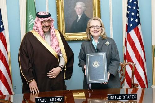 Muhammad Bin Nayef with Hillary Clinton