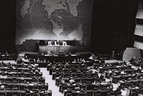 United Nations General Assembly partition vote, November 29, 1947