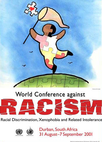 A poster for the anti-Semitic Durban Conference