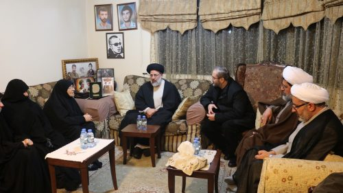 Raisi meeting with Mughniyeh's mother