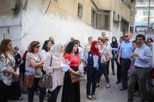 EU officials visit Shuafat Refugee Camp