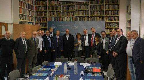 Experts from the Jerusalem Center and visitors from Europe at the conference