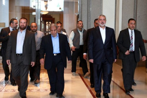 Hamas leaders in Egypt
