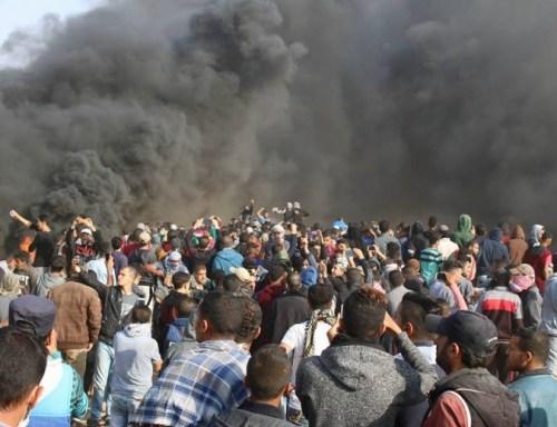 L'assaut des Gazaouites sur la barrière d'Israël, 27 avril 2018