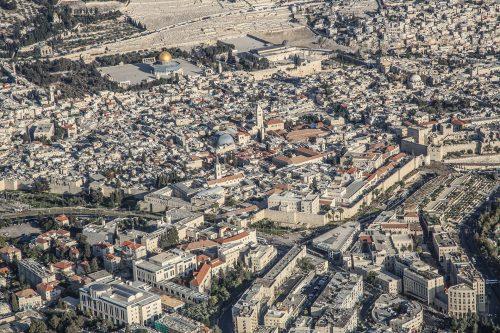 Bird's eye view of the Jerusalem's Old City