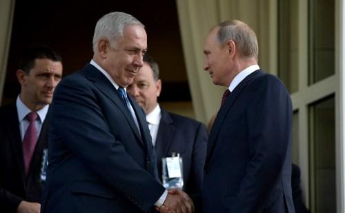 Vladimir Putin with Benjamin Netanyahu