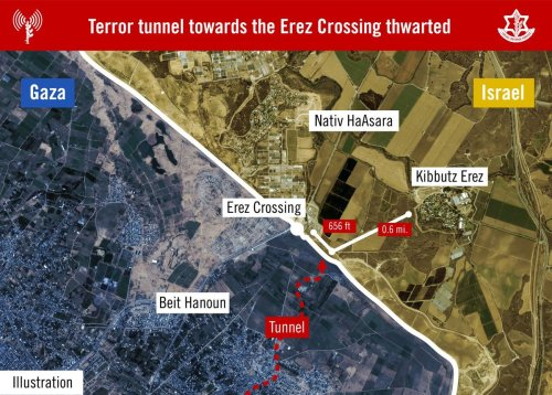 Terror tunnel towards the Erez Crossing