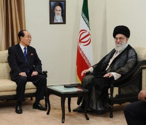 Ali Khamenei with Kim Yong-Nam