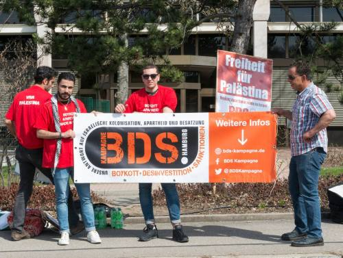 BDS Hamburg demonstration, April 2017