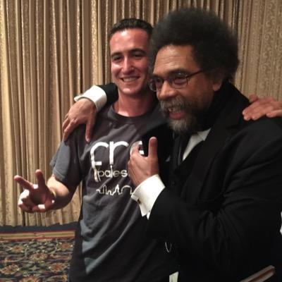 Eitan Peled pictured with Cornel West