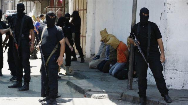Hamas prepares to execute suspected collaborators in 2014.