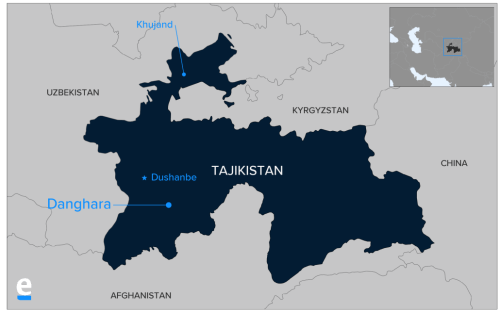 Danghara, the location of the attack on American and European tourists in Tajikistan.