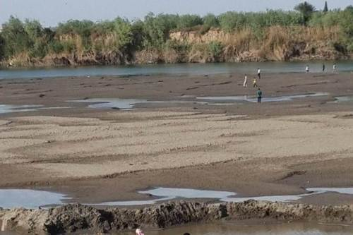 Dry Iraqi river bed today.