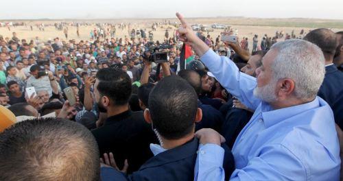 Ismail Haniyeh at the Israel-Gaza border