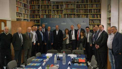 A group of officials, politicians, and intellectuals from Europe and Israel